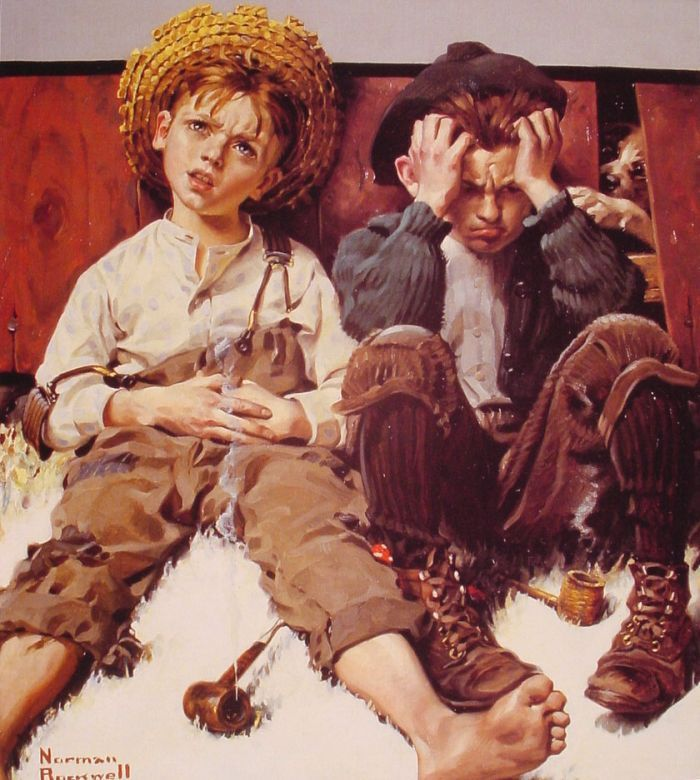 Retribution : Norman Rockwell : Art Scans : Scanopia