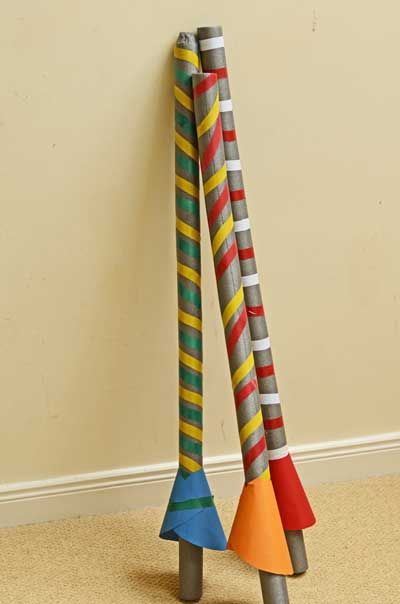 """""""We just made this jousting sticks for a Princess Party. The boys loved having their own! We used pool noodles instead (Since we had them)"""""""