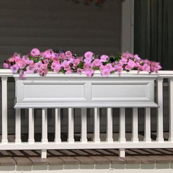 Planters decks and flower on pinterest - Flower boxes for railings ...