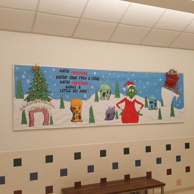 Christmas bulletin boards grinch whoville