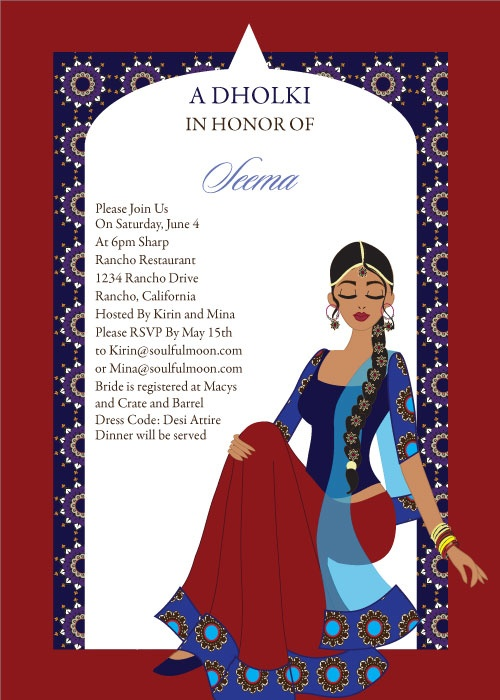 Arch Diva Indian Bridal Shower Invitations by #Soulfulmoon ...
