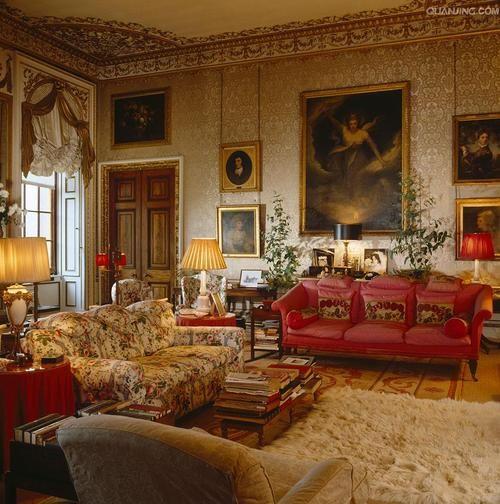Old World sitting room.