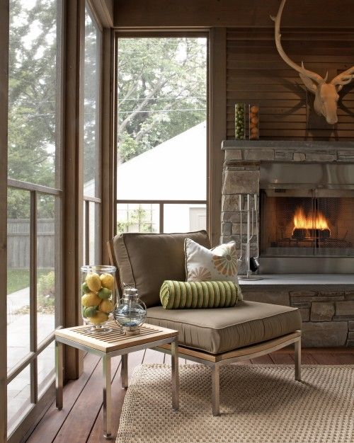 Home - Outdoor Rooms - Decks - Patios - Striking three season porch in Minneapolis. TreHus Architects+Design/Build.