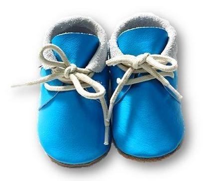mokasynki BŁĘKIT Leather Baby Shoes Moccassins Blue https://fiorino.eu/