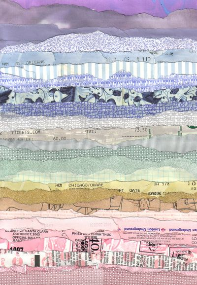 Magazine Art - 'Tickets' art print by Grace Breyley (inspiring landscape from paper collage)
