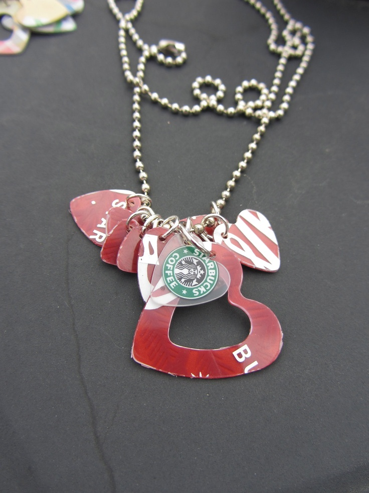 starbucks gift card repurpose ball chain necklace