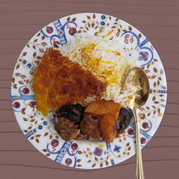 Khoresh is Farsi for stew – you may recall. A few posts ago we made a gorgeous rhubarb stew (modesty: out the window!) and the festive concoction pictured above is another type of Persian ste…
