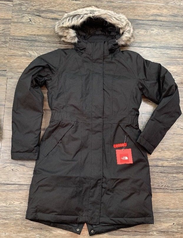 f26a04220 The North Face Arctic Parka Goose Down Jacket Dryvent Black Womens ...