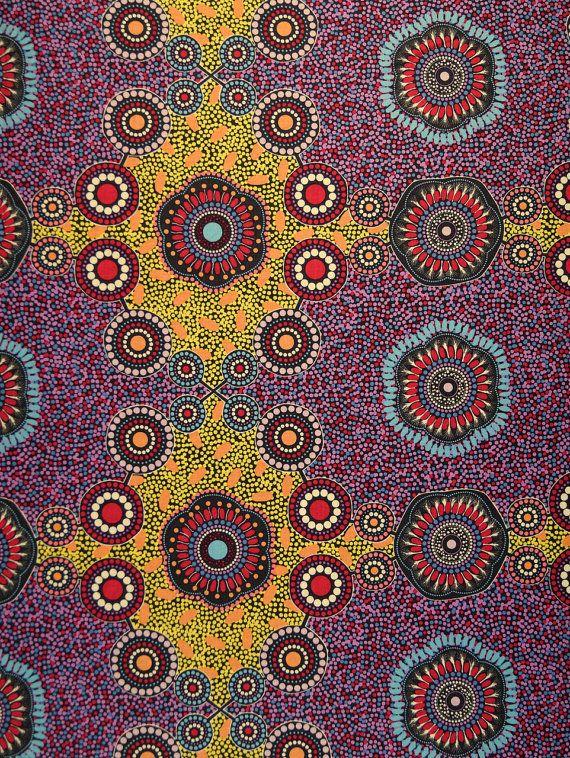 Luoghi di incontro aborigena cotone nero di TrueFabrics su Etsy