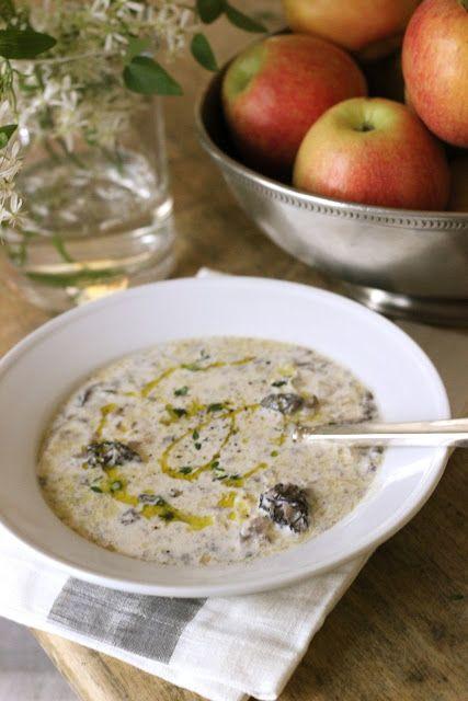 Cream of Morel Mushroom Soup #SpringRecipe