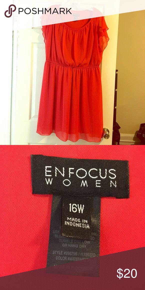 Plus size dress Red/orange plus size dress. Size 16W Dresses