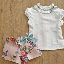 Conjunto blusa y short con estampado Floral. P-V