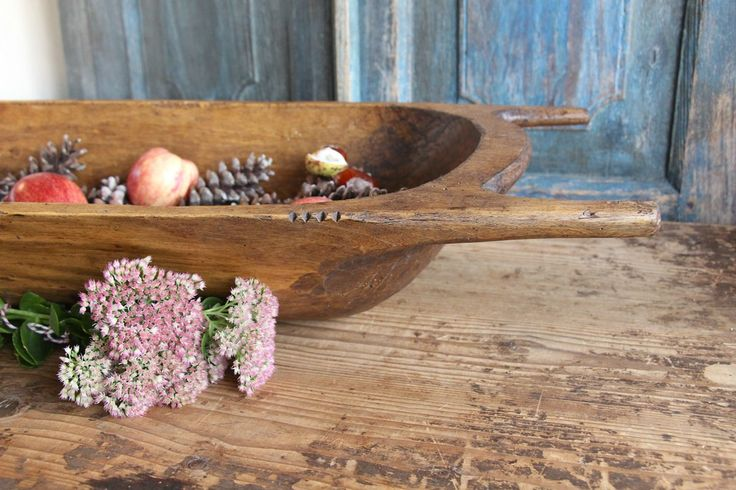 M 31: antique handcarved WOODEN DOUGH BOWL cottonwood by grainsack on Etsy