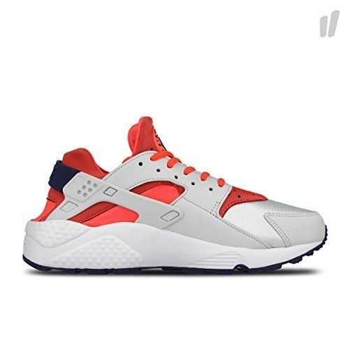 Women's Nike Air Huarache Run Pure Platinum Bright Crimson Loyal Blue Size  11.5 634835-013