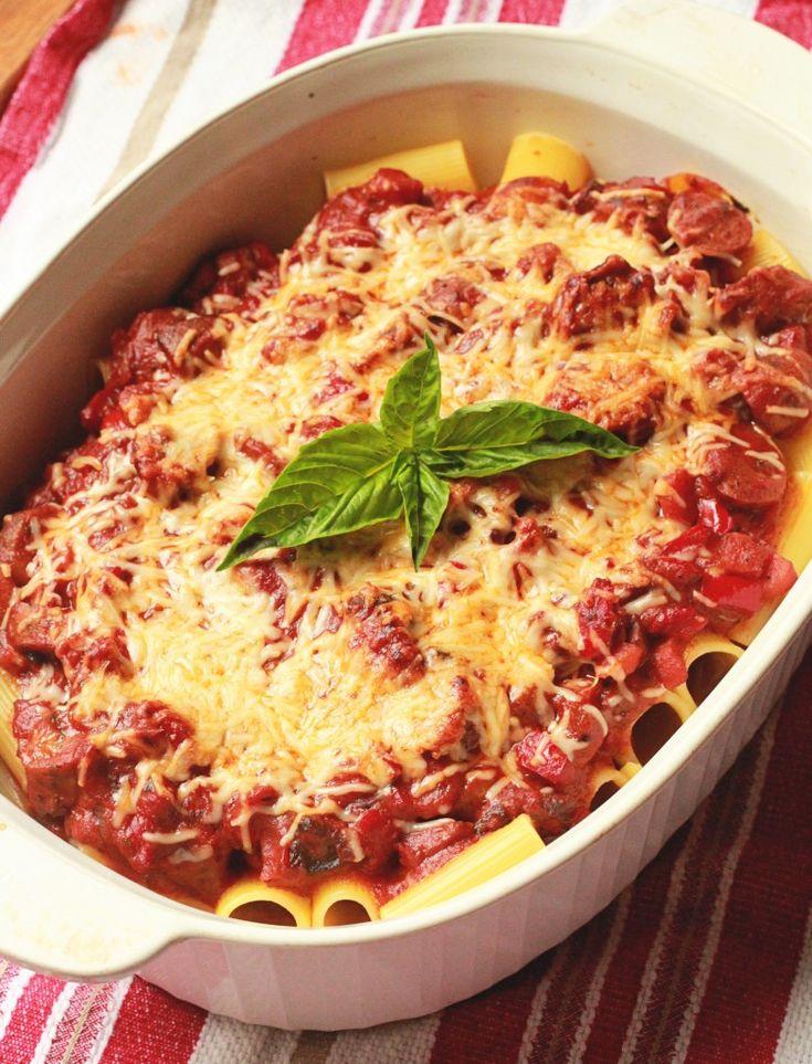 Rigatoni with Bolognese Sauce #pasta #recipe