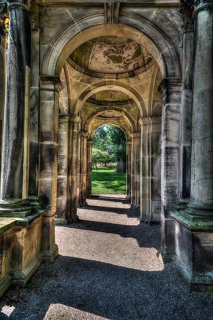Trentham Hall Ruins in Trentham Gardens, Stoke-on-Trent, England- Visitable