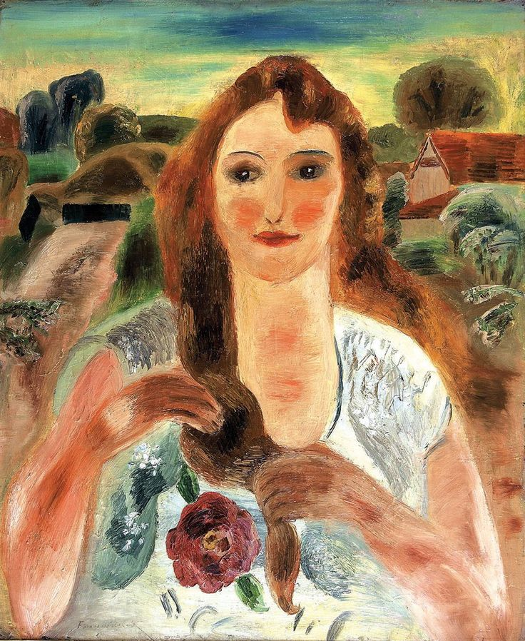 """The Farmer's Daughter"" Frances Hodgkins,1929"