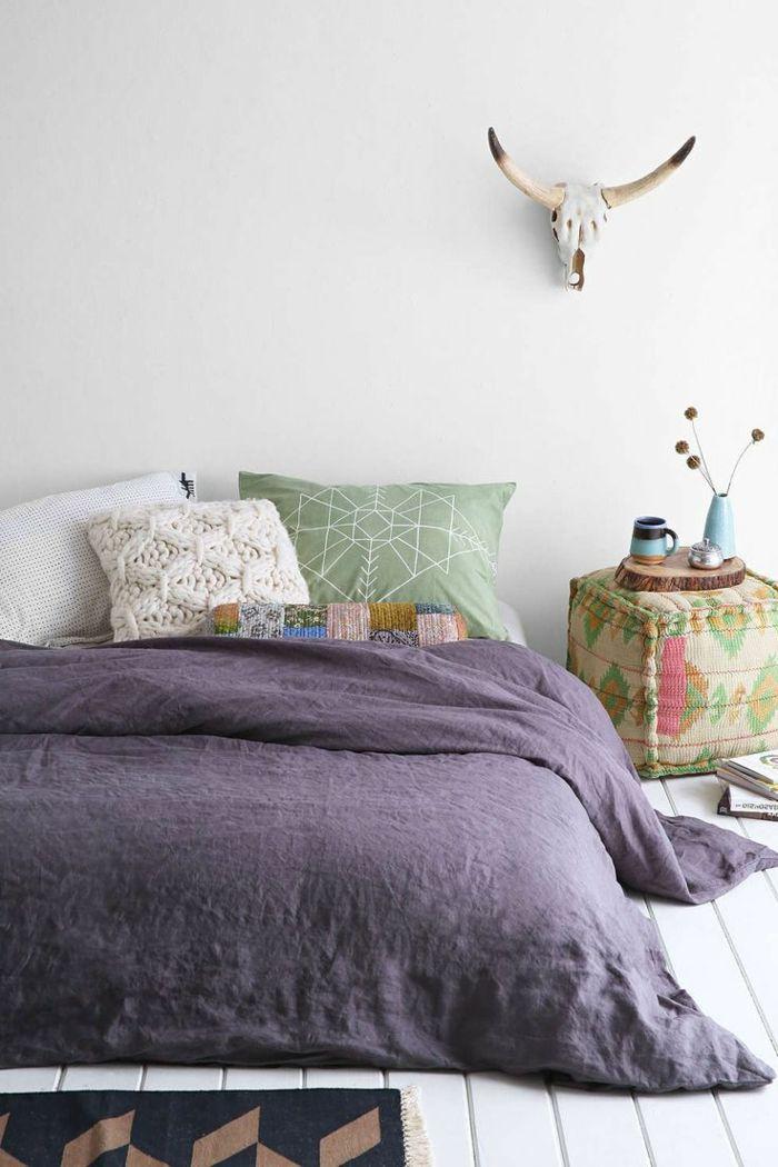 quelle housse de couette violette choisir pour la chambre à coucher