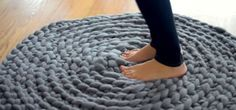 How to Crochet a Giant Circular Rug - No-Sew, No Crochet Hook Needed!