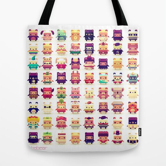 Alphabear+Tote+Bag+by+Spry+Fox+LLC+-+$22.00