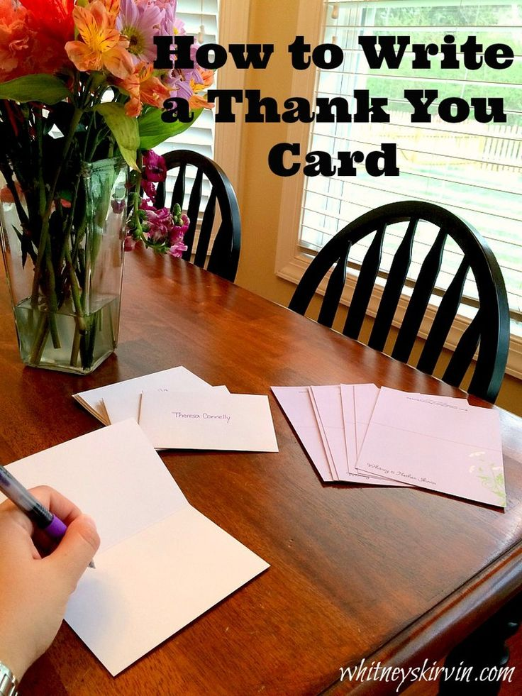 thank you note for wedding gift sample%0A How To Write a Thank You Card