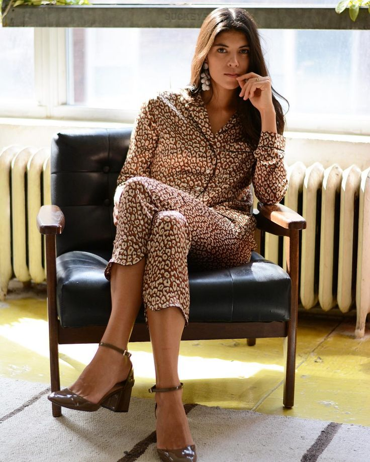 Neada Jane wearing Yolke pajamas