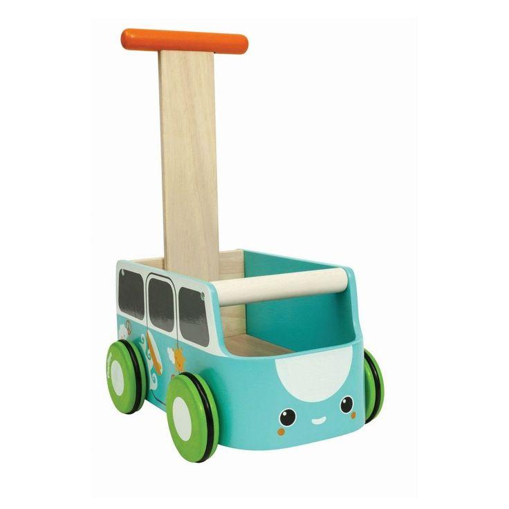 Plantoys Lauflernwagen Van in blau bei KidsWoodLove