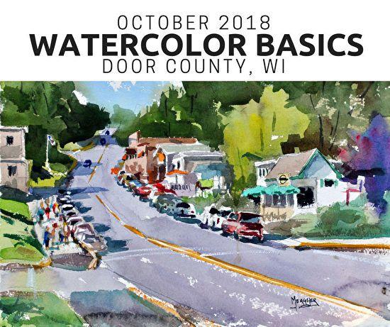 Watercolor Basics Door County Wi Watercolor Landscape Door County Cityscape