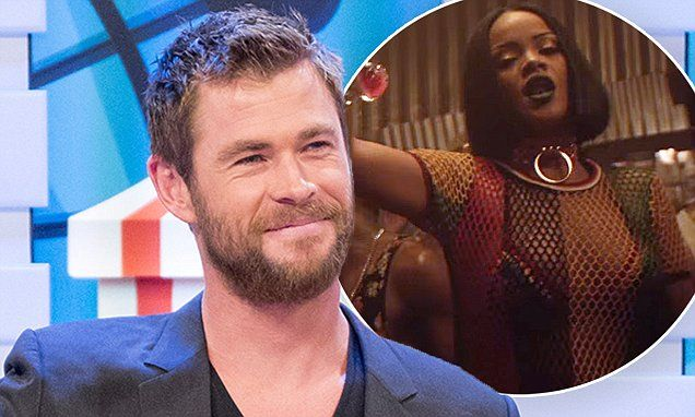 Chris Hemsworth reads aloud the lyrics to Rihanna's song Work