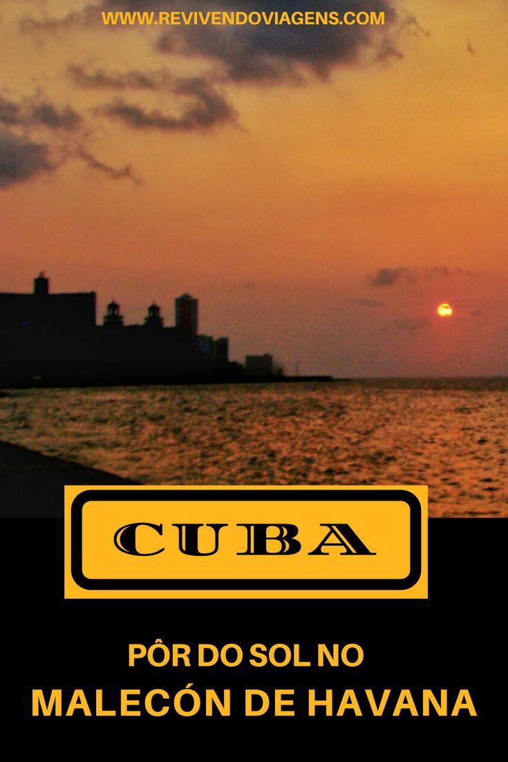Programa gostoso pra um fim de tarde em Havana é passear pelo Malecón e assistir ao pôr do sol. Cuba.