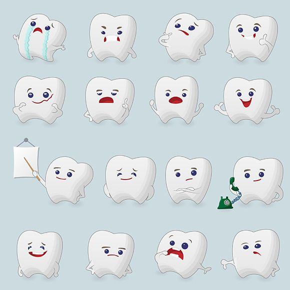 Teeth cartoons set by Juliars on @creativemarket