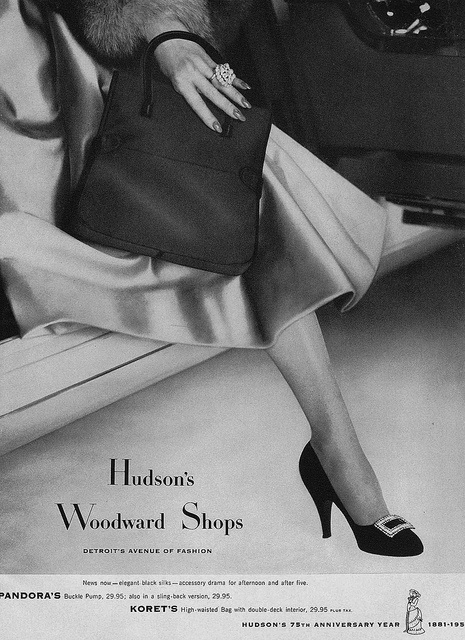 Stepping out in chic mid-50s style. #shoes #fashion #vintage #1950s #ad