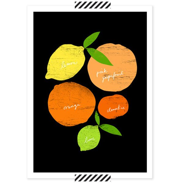 Citrus Poster. Kitchen Art PrintsBlack KitchensItalian KitchensFood ...