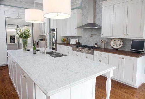 Kitchen Countertop Mixed Material Design Ideas