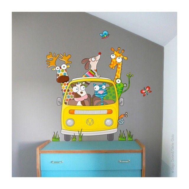 Barnabou Serie Golo Childs Kids Wall Sticker VW Campervan #walldecal #nursey #decor
