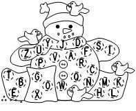 Snowman Letter Assessments in uppercase, lowercase, dnealian and regular font from Making Learning Fun