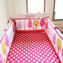 9 estilos de Dibujos Animados parachoques bebé 100% algodón ropa de cama de bebé cuna parachoques protetor de berco alrededor cuna de bebe cuna guardia valla(China (Mainland))