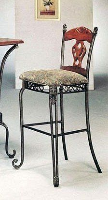 Set of 2 Tuscan Style Metal Wood Bar Stools by ACME Some