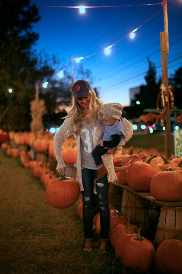 omg i love everything in this PICTURE!! The hat, the PUMPKIN patch, the outfit and the little Boy! yes yes
