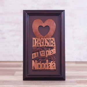 """Tablou din lemn """"Dragostea nu va pieri niciodata"""" #woodenboard #christianmessage #love"""