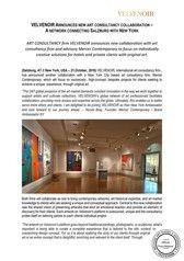 Art Consultancy Collaboration - VELVENOIR