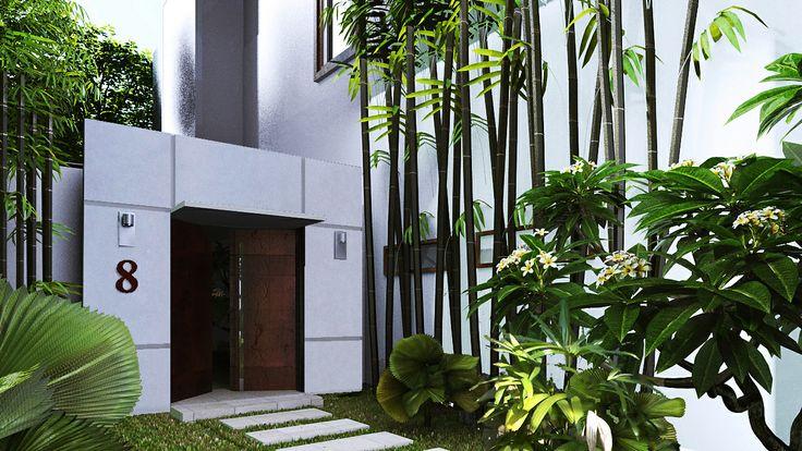 Villa white entree option blanche