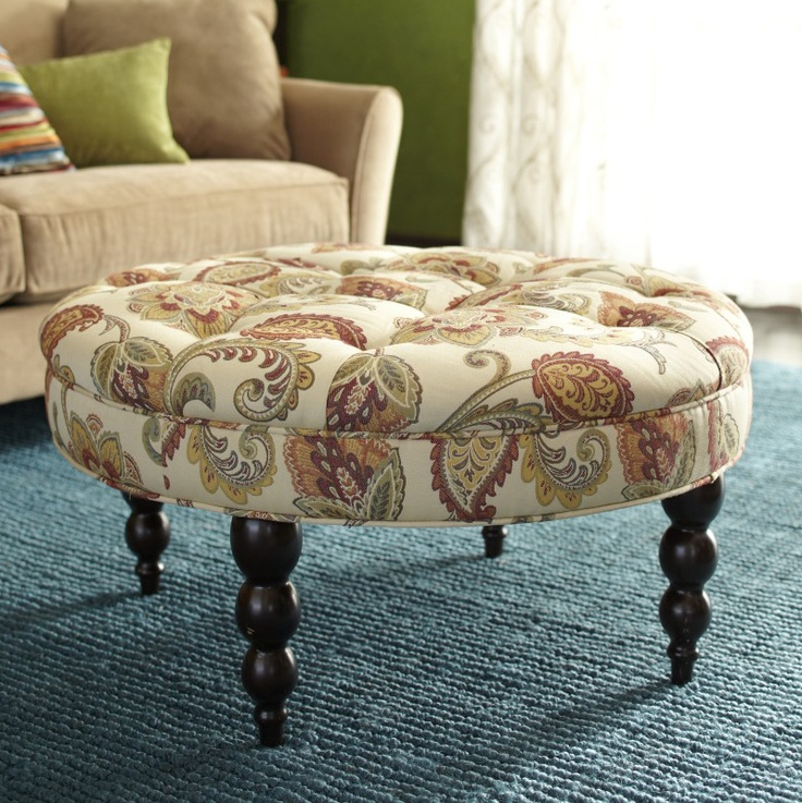 pier 1 living room rugs%0A from pier  com    Our versatile Tufted Ottoman is easy to love  Yellow  SpringsLiving Room