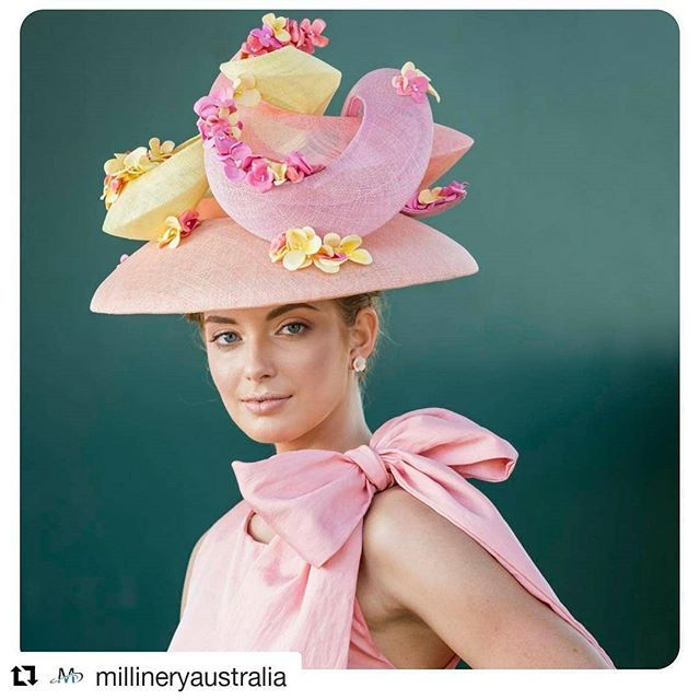 #Repost @millineryaustralia (@get_repost)  Stunning hat design by @crazyteapot for the #myermillineryaward on Oaks Day 2017.  @leehsanders @flemingtonvrc #millinery #maamember #millineryaustralia #hat #crazyteapot