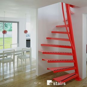 This amazing space saving access solution incredibly fits into spaces where no stair has gone before. In a 1m x 1m space this innovative design can access small areas of the home reserved usually for ladders. The 1m² ™ is only available from EeStairs.
