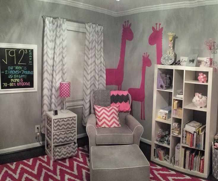 1000 images about pink and grey rooms on pinterest grey nursery ideas and baby girl rooms. Black Bedroom Furniture Sets. Home Design Ideas