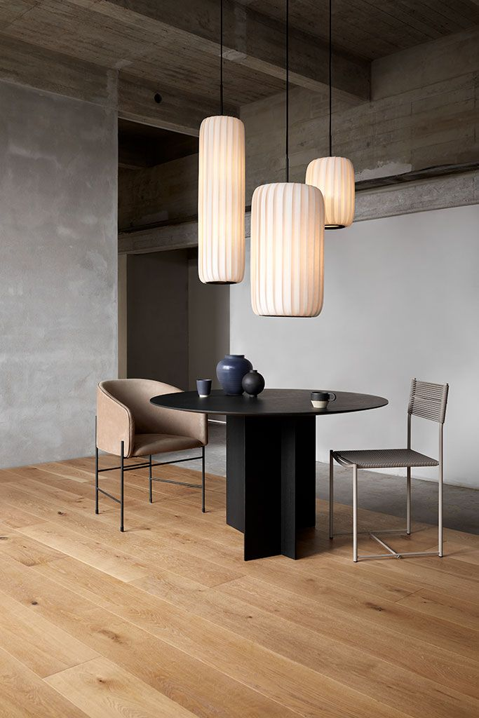 Tr37 Pendant Tom Rossau Round Dining Room Table Black Round Dining Table Interior Design Dining Room
