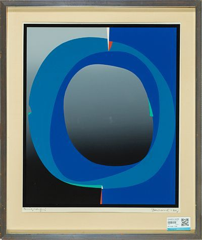 GUNNAR S. GUNDERSEN Blue and Green Composition, 1969
