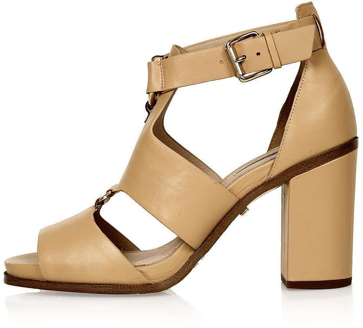 Womens camel rumba ring front sandals from Topshop - £59 at ClothingByColour.com