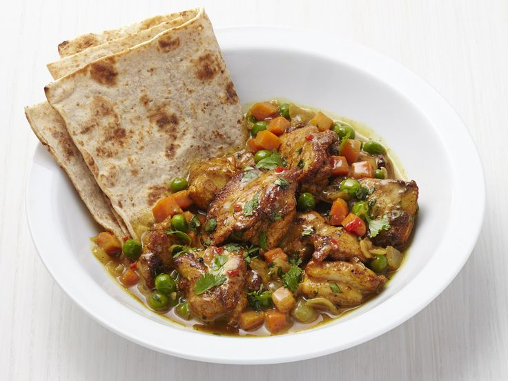 Caribbean Chicken Roti Recipe : Food Network Kitchen : Food Network - FoodNetwork.com